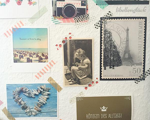 Postkarte an der Wand