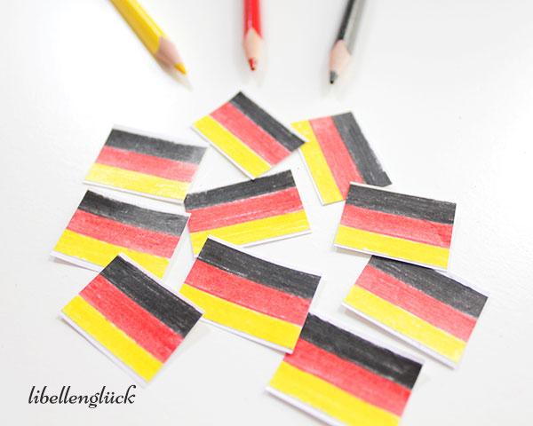 Fertige Deutschlandsticker mit Stiften
