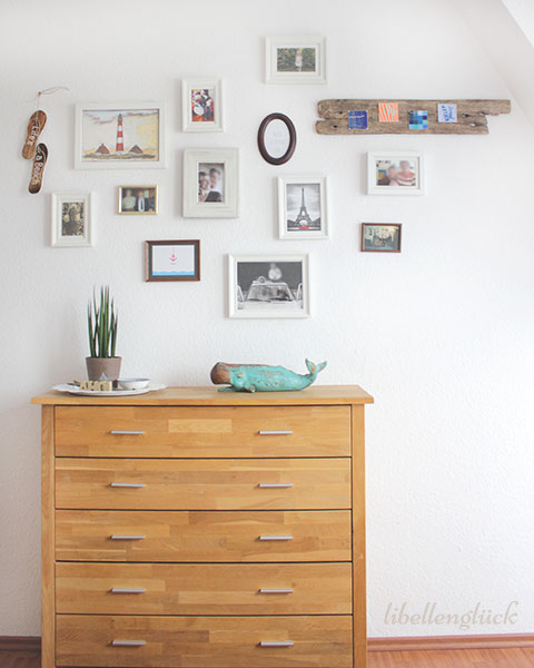 maritime bilderwand mit diy libellengl ck. Black Bedroom Furniture Sets. Home Design Ideas