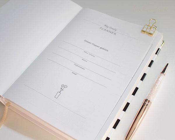 erste Seite my lovely planner