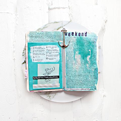 Journalseite von Lina @agirlwithajournal.
